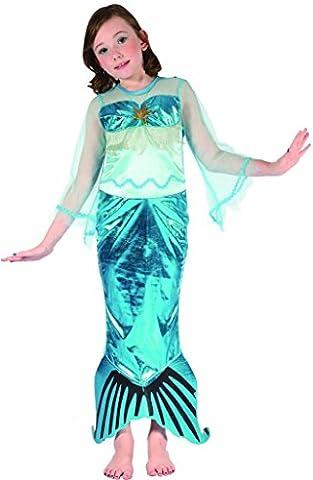 YOU LOOK UGLY TODAY Karneval Halloween Meer Prinzessin Kostüme Costumes für Kinder Mädchen - S (Leicht Unter Dem Meer Kostüme)