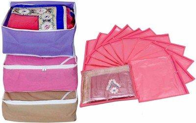 Kuber Industries Saree Cover Combo 3 Pcs Set And Single Packing Saree...