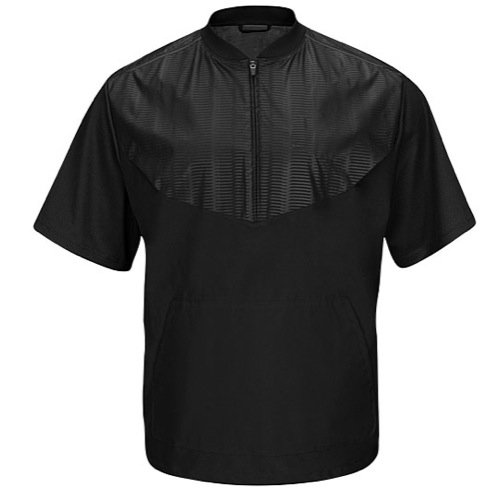 Majestic Herren Cool Boden Training Short Sleeve Jacke, Herren, schwarz - Kontrast-joch