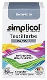 Simplicol Expert Tintura Tessuti Lavatrice o Colorazione Manuale: Tingi, Colora e Ripristina Tessuti e Vestiti - Grigio