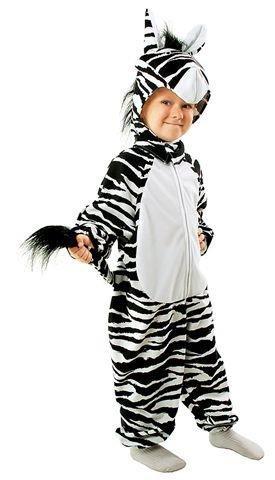 Zebra Kostüm Kind - Prezer Zebra Safari Kostüm für Kinder 98/104 Tierkostüm