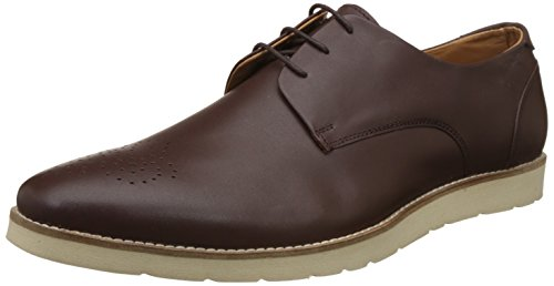 BATA Men's Hemingway Brown Leather Formal Shoes