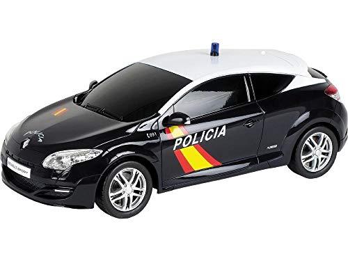 Mondo Toys Coche de radiocontrol Modelo Replica a Escala 1/24 de Renault Megane de Policia Nacional (63167), Multicolor, 1:24 (40335)