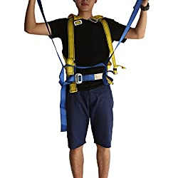 Magideal Full Body Rock Climbing High Work Rappelling Safety Harness Seat Belt Gear