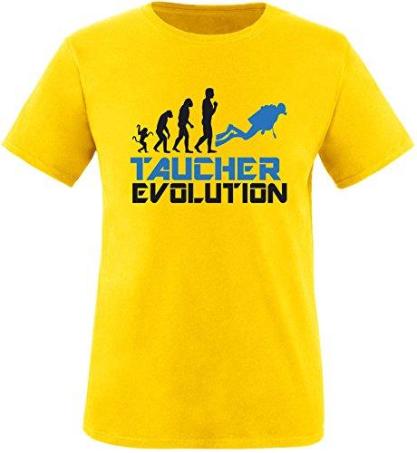 EZYshirt® Taucher Evolution Herren Rundhals T-Shirt Gelb/Schwarz/Blau