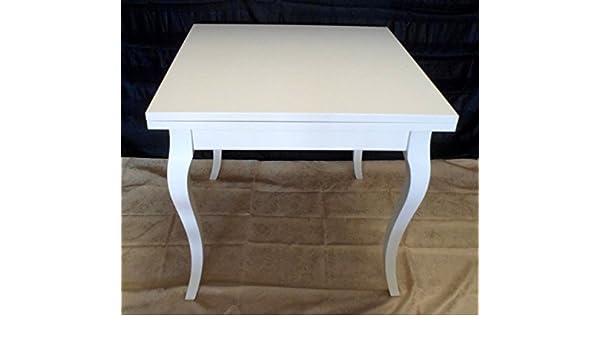 Legno&Design Table carrée extensible Blanc laqué: