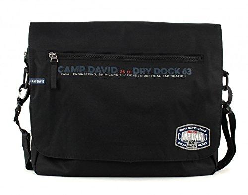 Camp David Norton Bay Messengerbag mit Laptopfach 17,1 Zoll 9000 schwarz
