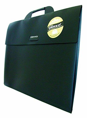 West Design DKTGA4BK Westfolio - Sammelmappe mit großer Seitenfalte, DIN A4, Typ G, schwarz
