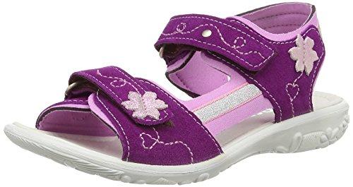 Ricosta Azany, Sandales Plateforme fille Violet - Purple (Violett/Candy 372)