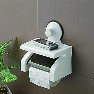 Toallero de baño con ventosa doble para baño, caja de pañuelos, soporte para rollo de papel higiénico