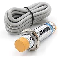 Heschen Interruptor de sensor de proximidad capacitivo LJC18A3-B-J/EZ de 1 a 10 mm, 90-250 V de CC, 300 mA NPN, normalmente abierto (NO) de 2 cables