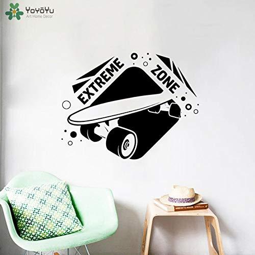 nkfrjz Fototapete Skateboard Aufkleber Vinyl Boys Dekoration Modern wandaufkleber kinderzimmer 54x42cm