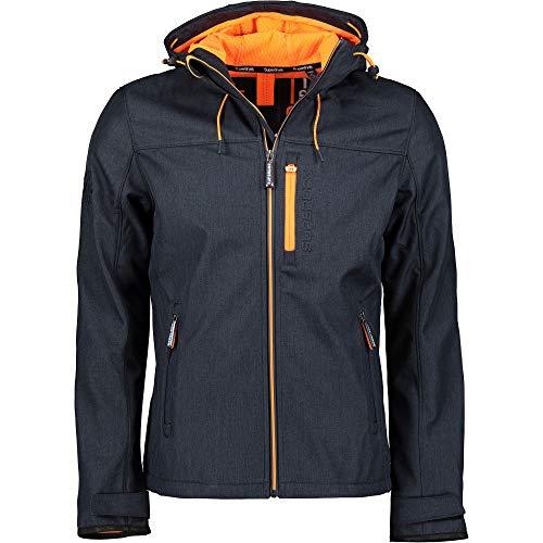 Superdry Jacke Herren Hooded WINDTREKKER Deep Navy/Lazer Orange, Größe:M