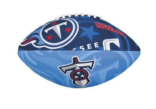 Wilson Football mit dem Logo des NFL Junior Teams, WTF1534IDTN, TENNESSEE TITANS, Für Kinder