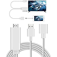 Adaptador Lightning a HDMI, AMANKA 3 in 1 Full HD Mirroring Cable HDMI Cable Lightning MHL to HDMI AV Convertidor para iPhone iPad Samsung Huawei