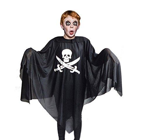 Halloween Kostüm, Piraten Poncho – Geist Umhang – ideale Verkleidung für jede Piraten Konstüm Party mit (Piraten Gespenst Kinder Kostüm)