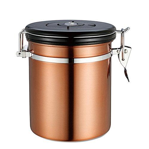 lzn Edelstahl Kaffeedose / Kaffeebehälter mit Deckel und Aromaverschluss - die Vorratsdose um...