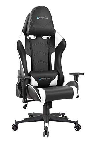 Newskill Kitsune - Silla gaming profesional (Inclinación y altura regulable, reposabrazos 2D ajustables, base en nylon, reclinable 180º), Color Blanca