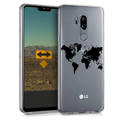 kwmobile LG G7 ThinQ/Fit/One Hülle - Handyhülle für LG G7 ThinQ/Fit/One - Handy Case in Schwarz Transparent