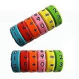 Nome del prodotto: Giocattolo cubo di calcolo magnetico per bambini   Design multifunzionale:   1. Quando si utilizza il magnete  2. Conoscere il colore  3. Matematica aritmetica (sommare, sottrarre, moltiplicare, dividere)  descrizione del ...
