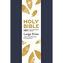 NIV Large Print Single-Column Deluxe Reference Bible: Soft-tone (New International Version)