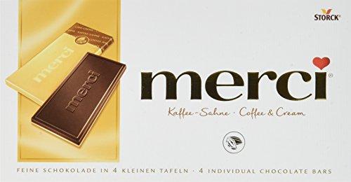 Preisvergleich Produktbild merci Tafelschokolade Kaffee-Sahne – die perfekte Selbstverwöhnung – 4 kleine,  feine Täfelchen – 15er Pack (15 x 100 g)