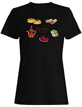 Comida Árabe Tasty East camiseta de las mujeres m867f
