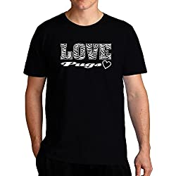 Eddany Love Pugs Camiseta