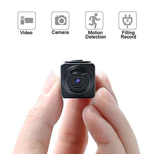 Telecamera Spia, Mini Telecamera Nascosta UYIKOO 1280 x 960P Telecamera Portatile Supporto per Rilevazione di Movimento per Sicurezza Interna/Esterna Surveilance Cam