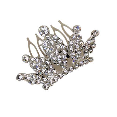 VIccoo Kinder Mädchen Glitter Strass Crown Hairgrip Prinzessin Bogen Kleine Haarnadel Mini Tiara Haar Kamm Clips Frauen Hochzeit Gunsten - A#