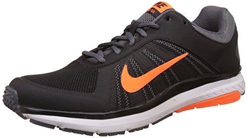 5. Nike Men's Dart 12 MSL Black, Total Orange and Dark Grey Running Shoes
