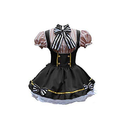 Suitray Damen Kleid Mode Halloween Mittelalterliches gotisch Kurz Schürze Kleid Mini Kleid Faltenkleid Partykleid Freizeit Kleid Fraun Abendkleid Maid Cosplay Kostüm (Ideen 2019 Halloween-kostüm Gute)
