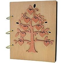 Giftgarden Álbum de Fotos Creativo con árbol Cúbico de Corazón ...