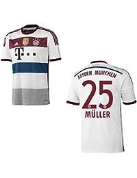 premium selection ec152 54910 adidas FC BAYERN MÜNCHEN Trikot Away WC Herren 2014  2015 - MÜLLER 25,  Größe