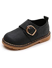 324294664 KVbaby Kid's Suede Leather Oxford School Shoes Lace up Shoes Boy's Casual  Martin Shoes