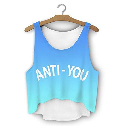 Filles veste d'été pour femme Haut Teenage Party pour Femme Coussin sans manches pour homme fashion Multicolore - ANTI YOU
