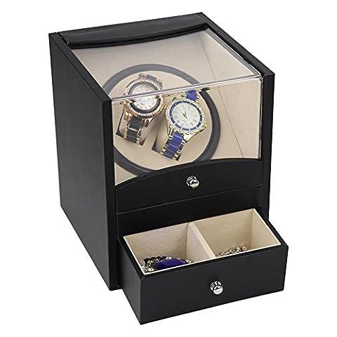 Automatic Watch Winder Remontoir pour 2 montres?avec tiroirs?5 couleurs et