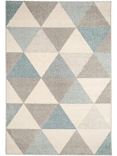 benuta Teppich Pastel Geomet Türkis 140x200 cm | Moderner Teppich für Wohn- und Schlafzimmer