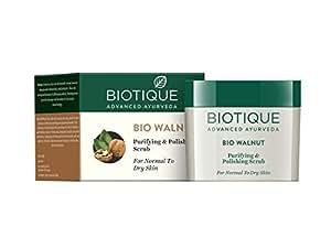 Biotique Bio Walnut Purifying & Polishing Scrub For Normal To Dry Skin, 50G
