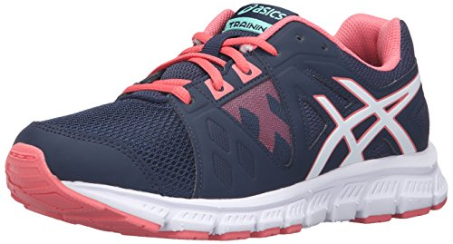 ASICS Girls' Gel-Craze TR 3 GS Skate Shoe, Dark Navy/White/Guava