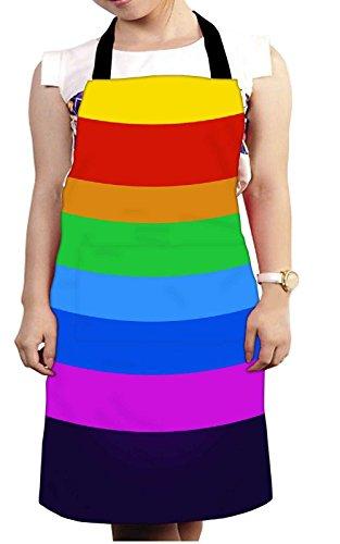 Snoogg Arco Iris Círculos De Colores 2925cocina Chef delantal para Mujeres y Hombres