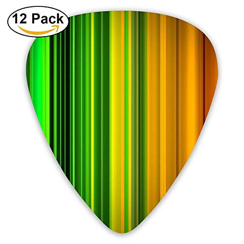 Colourful Stripes Gauge Jazz Medium Guitar Picks (12-Pack) Boys Personalized 0.46/0.71/0.96 Mm Guitar