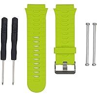WEINISITE Reemplazo Correa de Banda para Garmin Forerunner 920XT GPS Deportes Reloj de Copia de Seguridad Banda con Herramienta (Verde)