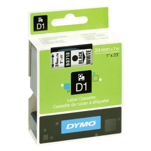 Dymo S0720930 D1-Etiketten (Selbstklebend, für den Drucker LabelManager, 24 mm x 7 m Rolle) schwarz auf weiß