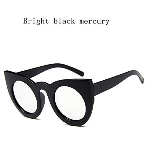 GJYANJING Sonnenbrille Cat Eye Damen Sonnenbrille Getönte Farbe Objektiv Vintage Sonnenbrille Frauen Brillen Weibliche Sonnenbrille Uv400