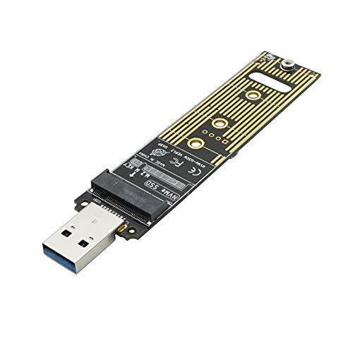 Murat Colak NVME zu USB Adapter M.2 SSD zu Typ A Karte Kein Kabel benötigt einen 10 Gbit/s USB 3.1 Gen 2 Bridge Chip