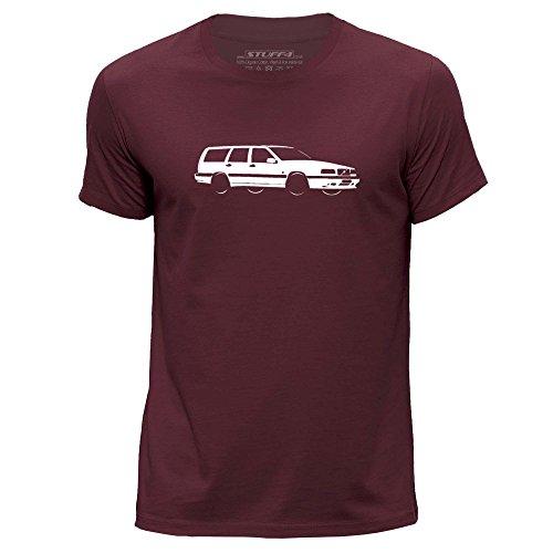 Stuff4® Herren/groß (L)/Burgund/Rundhals T-Shirt/Schablone Auto-Kunst/850 T5-R (Burgund Christmas Stockings)