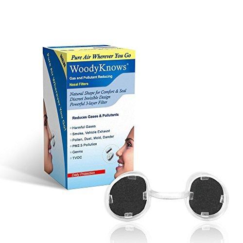 Los Filtros Nasales que Reducen Gas y Artículos Contaminantes les ayudan a disminuir la Contaminación del Aire, Gas, Humo de Segunda Mano, TVOC, Máscara Anti-Contaminación, Purificación del Aire(3 marcos de filtro y 6 pares de filtros de reemplazo)(I-R/II-R/III-R)