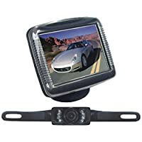 PYLE PLCM36 3.5 Slim TFT LCD Universal Mount Monitor System with License Plate Mount & Rearview Camera consumer electronics