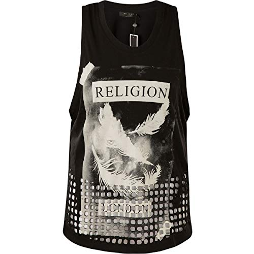 Religion Splash Tank Top Damen Schwarz M (Medium)